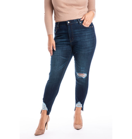 Curvy Collection -  Destructed Skinny