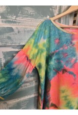 Balloon sleeve Tie Dye Knit Top