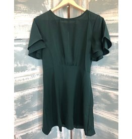 Double Bubble sleeve Fit & Flare Dress