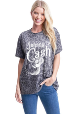 Johnny Cash Leopard Print Graphic Tee