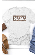 The Leopard Mama Graphic Tee - Ash Grey