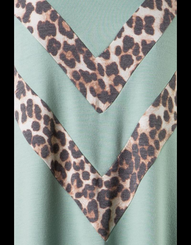 Chloe Leopard Print Chevron Tee