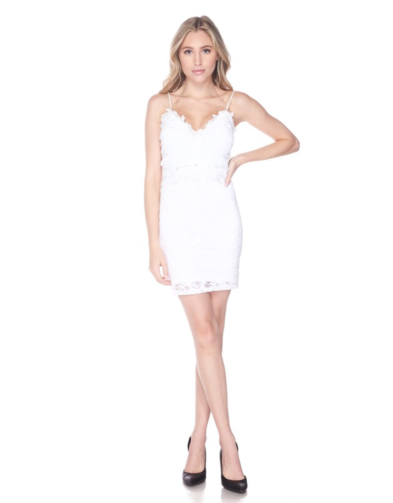 Bachelorette Lace Bodycon Dress - White