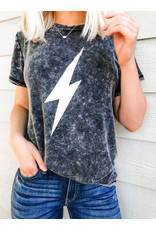 Force To Be Reckoned With Lightning Bolt Graphic Tee