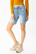 True Believer Button Fly Long Inseam Denim Shorts