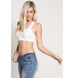 Pure Bliss Lace Racer Back Bralette