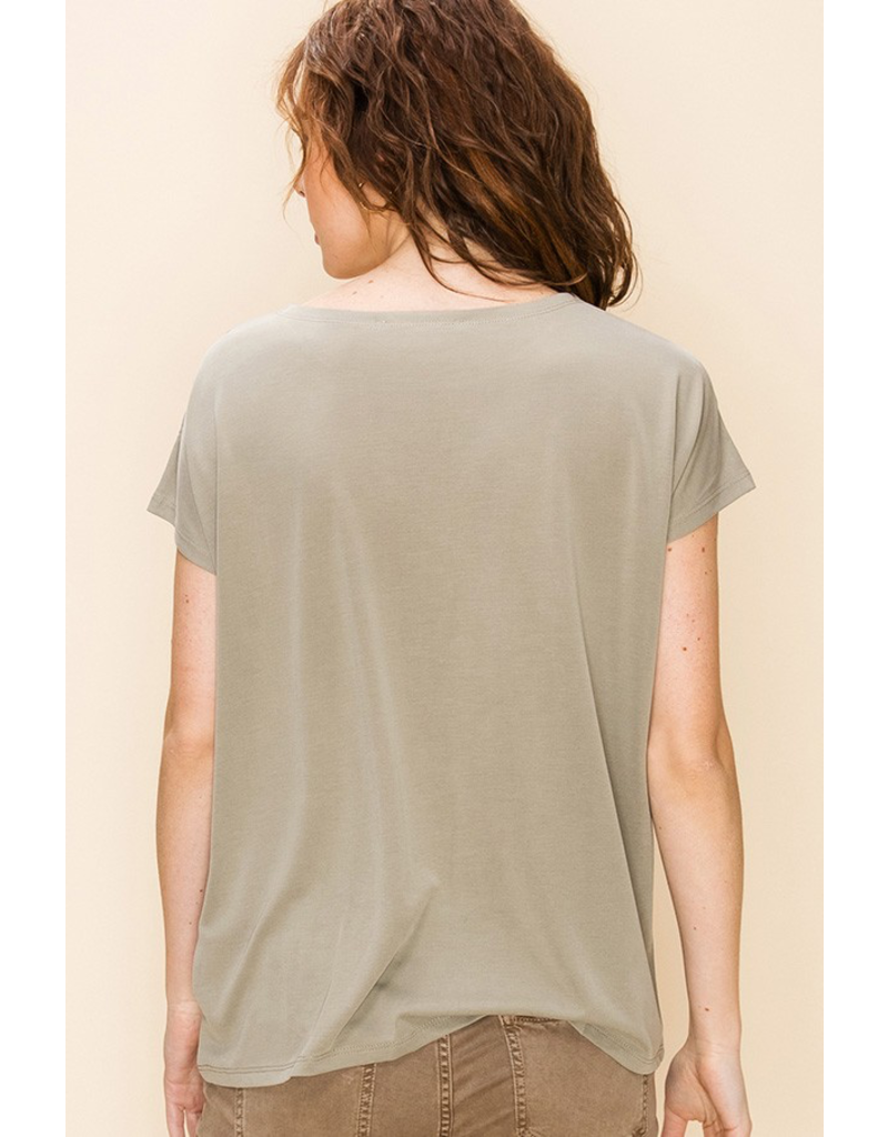 Blank Space Knot Front Tee