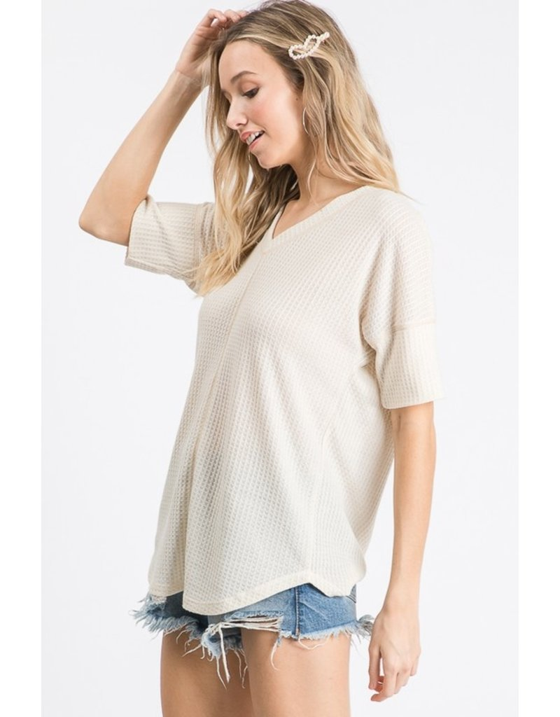 Treat Yourself Waffle Knit Top