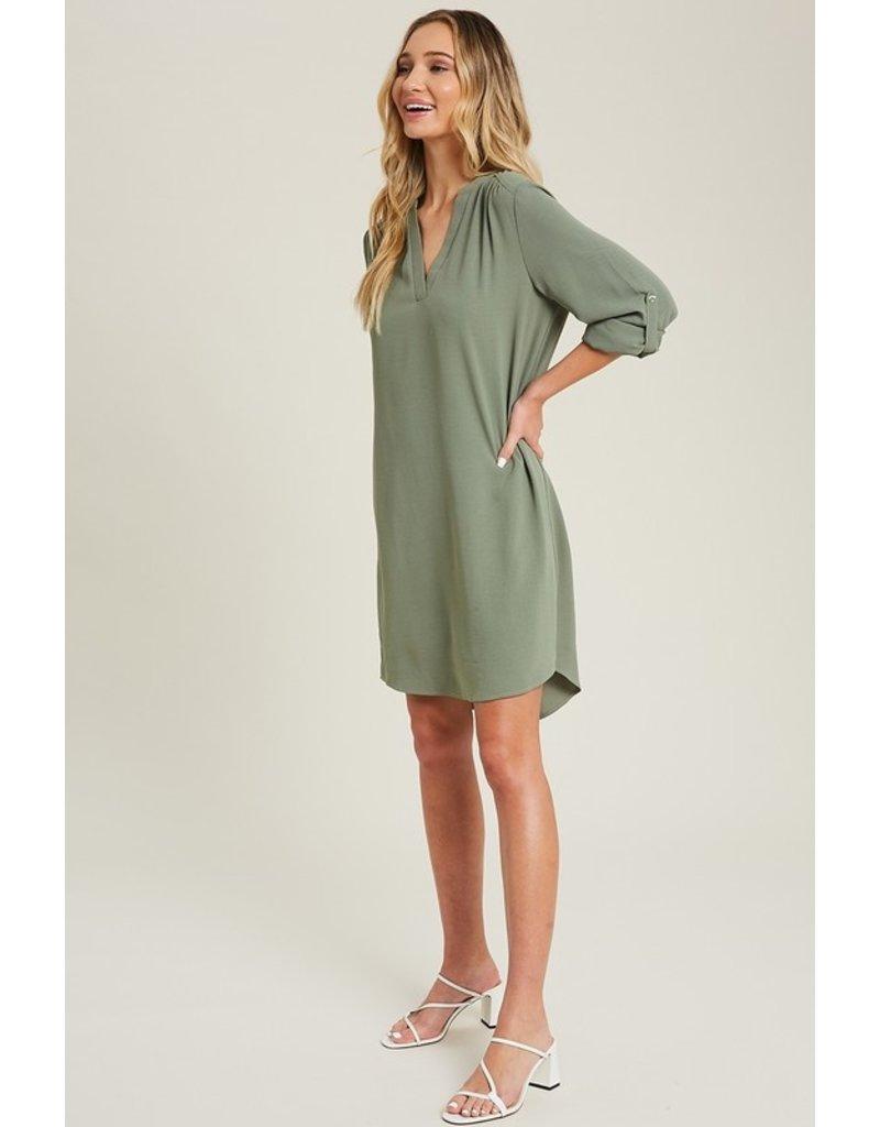 Rare Beauty V-Neck Dress