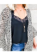 Spot You From Here Leopard Print Duster Kimono