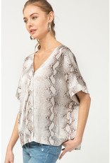 Entro Spice Things Up Snake Print Top
