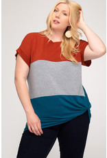 Keep You Forever Color Block Top