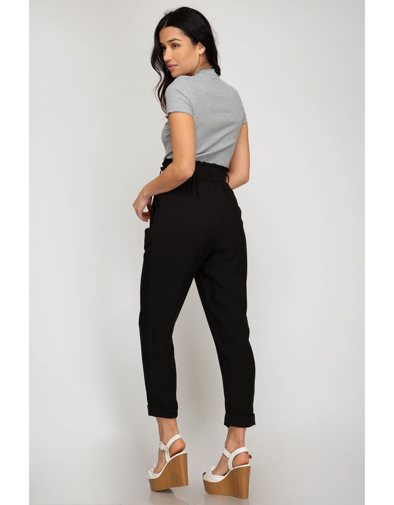 How About Now Paperbag Waist Pants