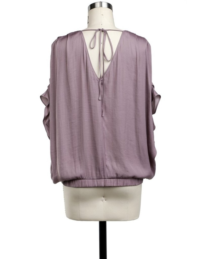 Purple Dove Wrap Blouse