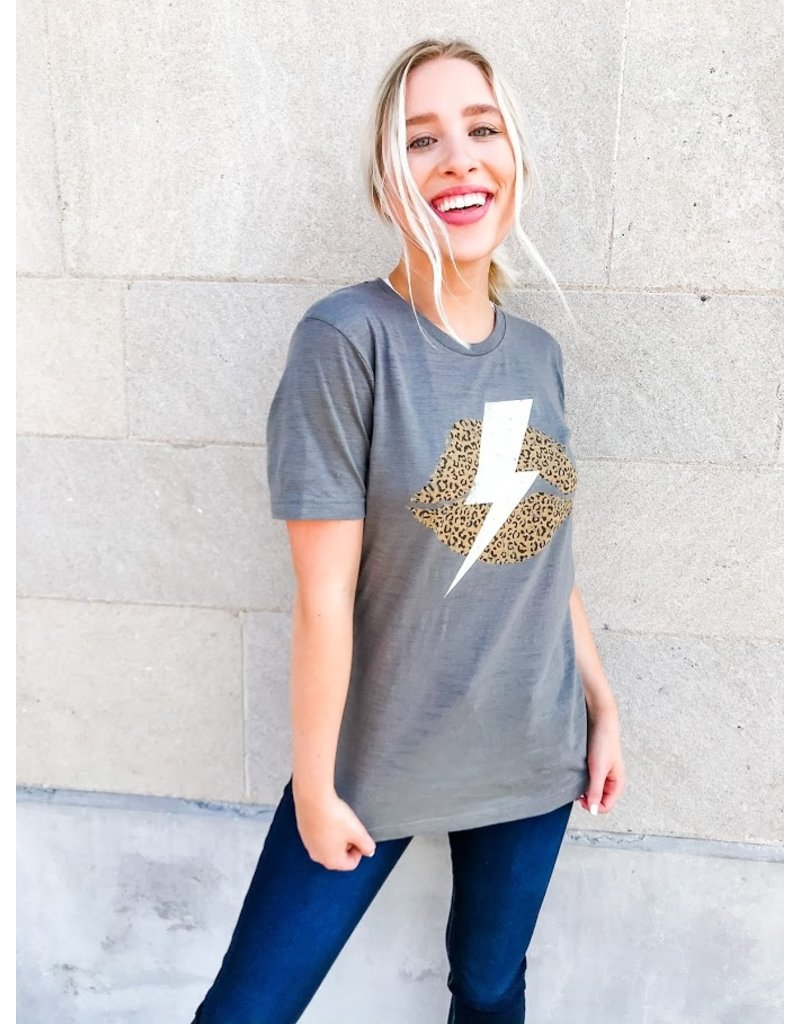 Leopard Lips + Lighting Bolt Graphic Tee