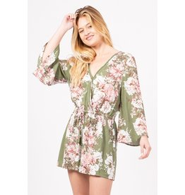 Blooming Beauty Bell Sleeve Romper