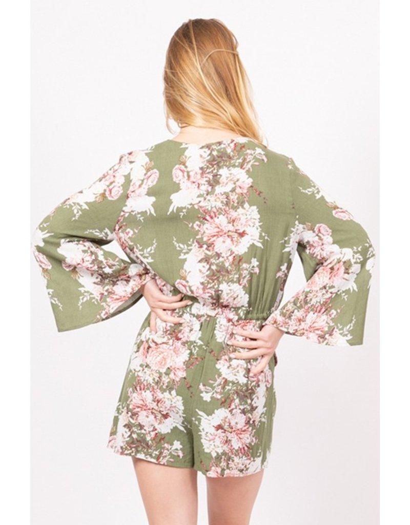 Blooming Beauty Bell Sleeve Romper