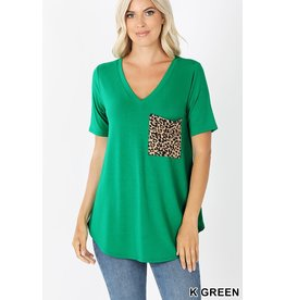 When The Right One Arrives Leopard Pocket Tee
