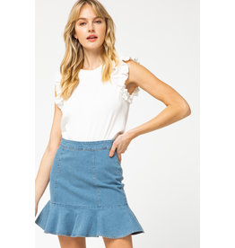 You Stole My Heart Denim Skirt
