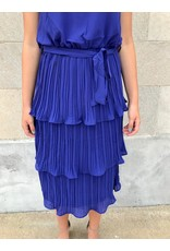Only Love Pleated Midi Dress