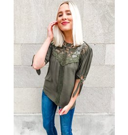 Entro Just You And I Lace Crochet Top