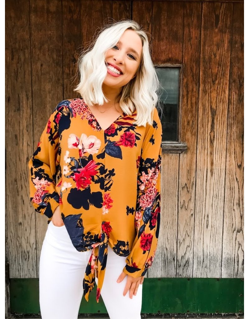 For The Portfolio Floral Print Top