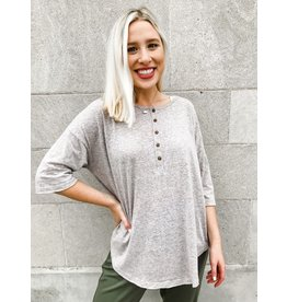 Wish List You're All I Need Button Front Top