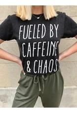 Caffeine And Chaos Graphic Tee