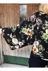 Garden Of Daydreams Floral Print Kimono