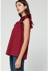 Fashionably Late Ruffle Sleeve Top
