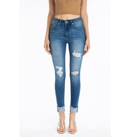 Universal Medium Wash Rolled Cuff Skinny