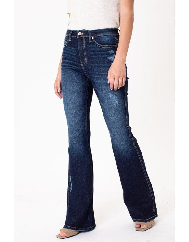 Stellar Dark Wash Flare Jeans