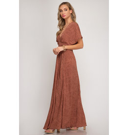 Vogue Printed Maxi Dress
