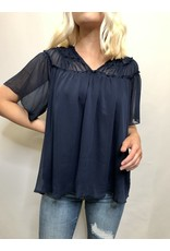 Say You Will Flutter Sleeve Blouse