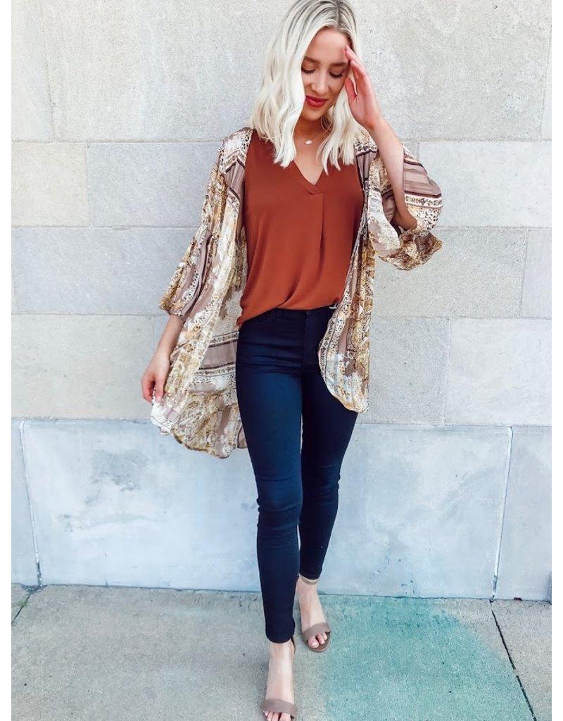 Strike A Pose Paisley + Leopard Print Kimono