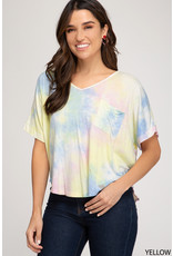 Cotton Candy Clouds Tie Dye Top