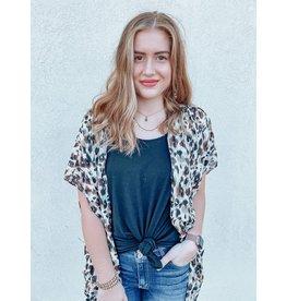 The Glow Up Leopard Print Kimono