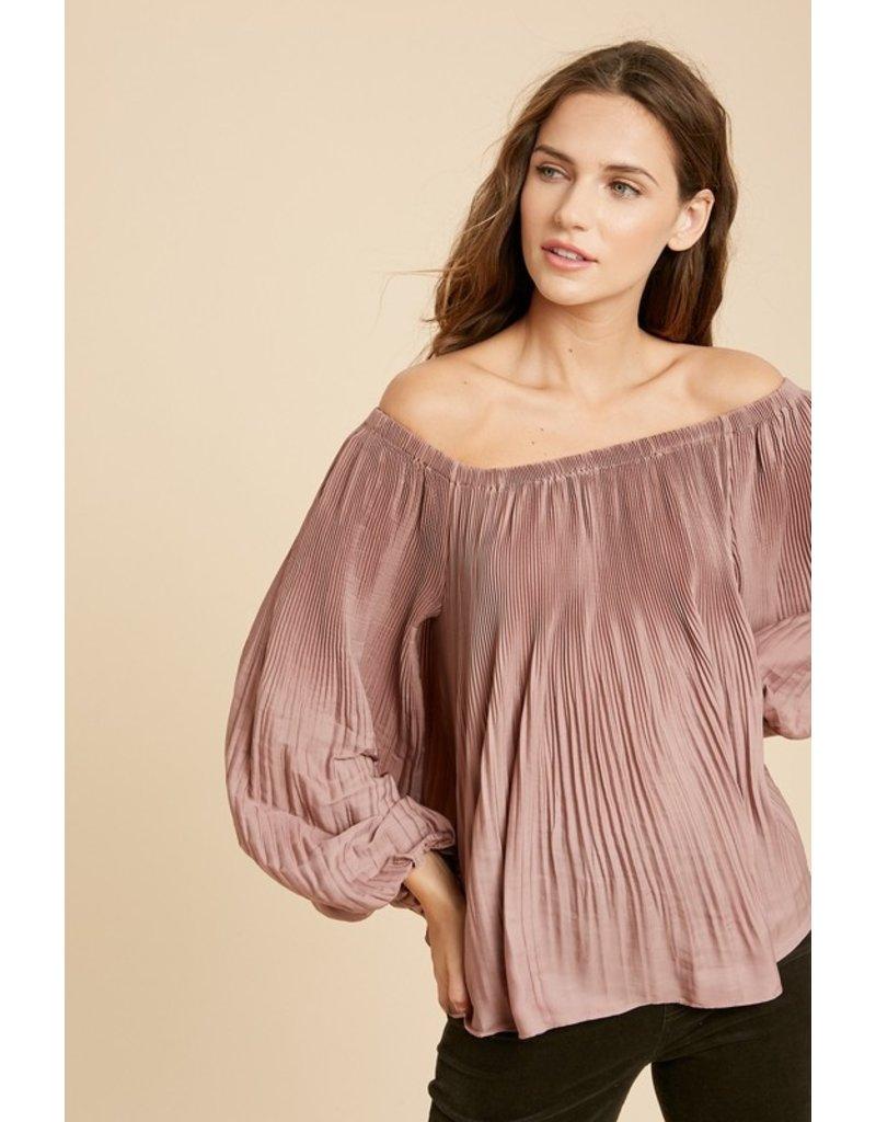Odette Off The Shoulder Pleated Blouse