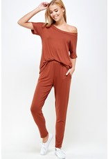 Jet Set Matching Lounge Wear - Hazelnut
