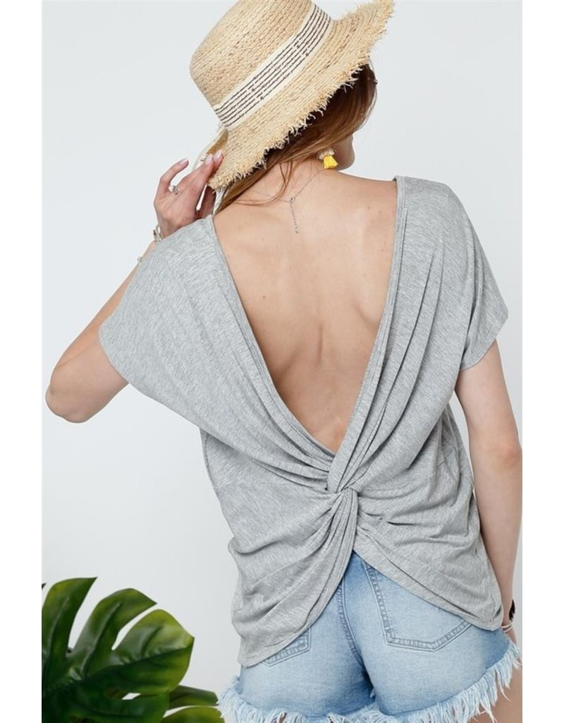 The Brittnee Twisted Back Top