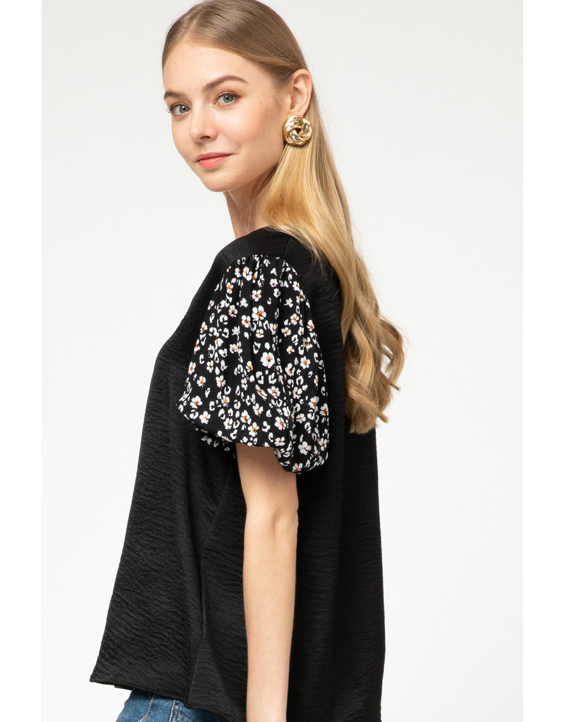 All Out Of Love Puff Sleeve Top