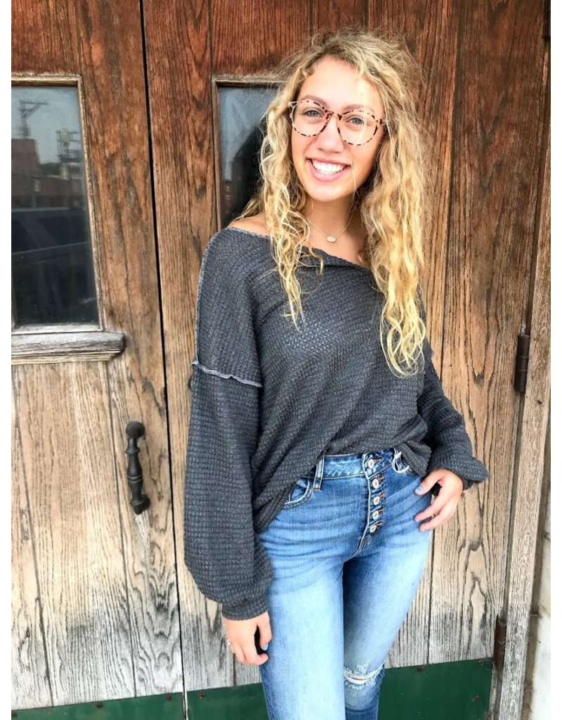 Common Ground Waffle Knit Top