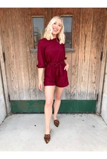 The Romance In The Air Belted Romper
