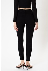 Rizzo Two Button Frayed Skinny - Black