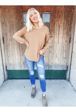 The Mags Criss Cross Cold Shoulder Sweater