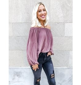 Odette Off The Shoulder Pleated Blouse