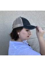 Get Lost Together Washed Denim Baseball Hat