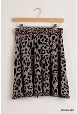 The Chase Me Leopard Print Skirt