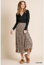 The Playful Personality Leopard Print Midi Skirt