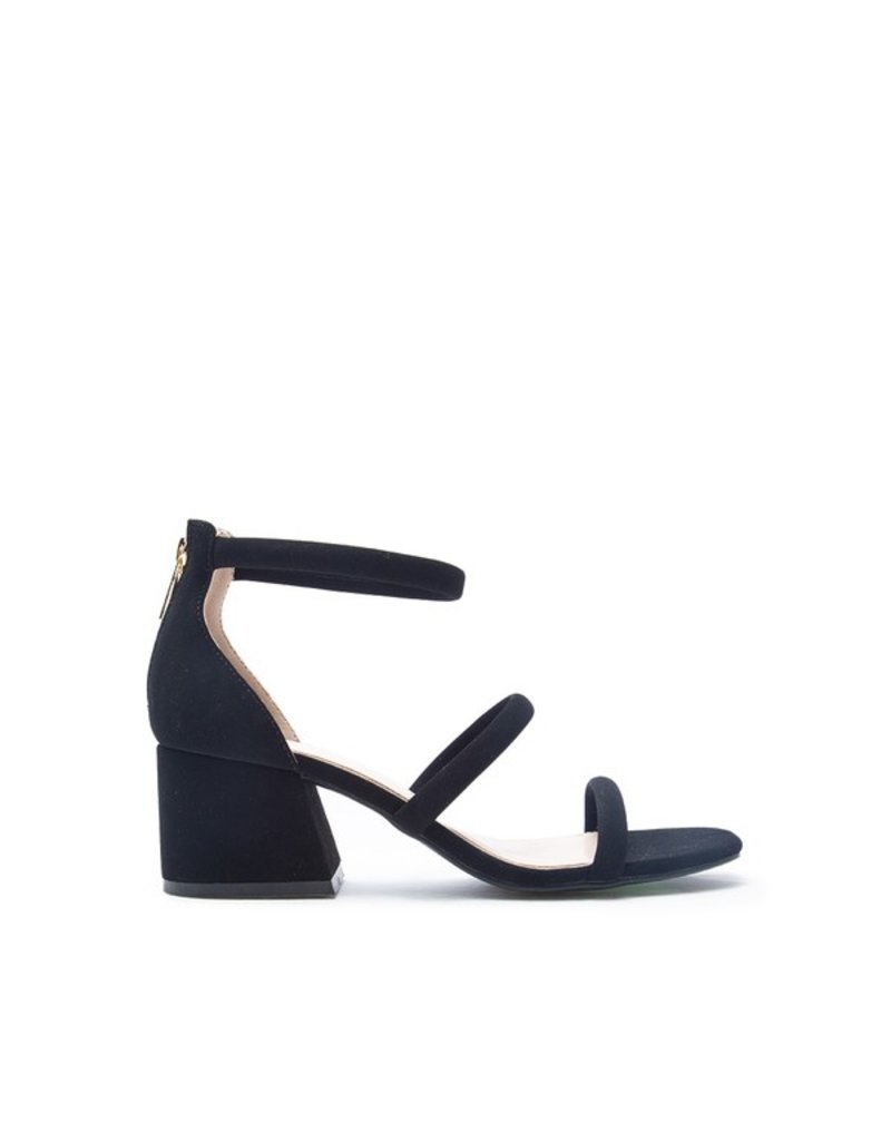 The What A Night Strappy Heeled Sandal - Black